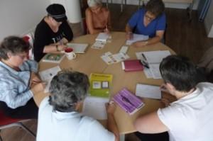 """Atelier hebdomadaire """"Ecrire contre le cancer"""", dans les locaux de la Ligue contre le cancer, à Bayonne"""